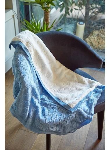 Arma Baby's Çift Taraflı Mavi Havlu Battaniye 90 x 110 Mavi